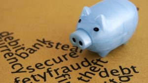Secure piggy bank image