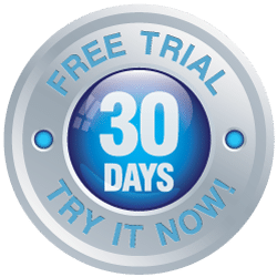 30 days free trial button